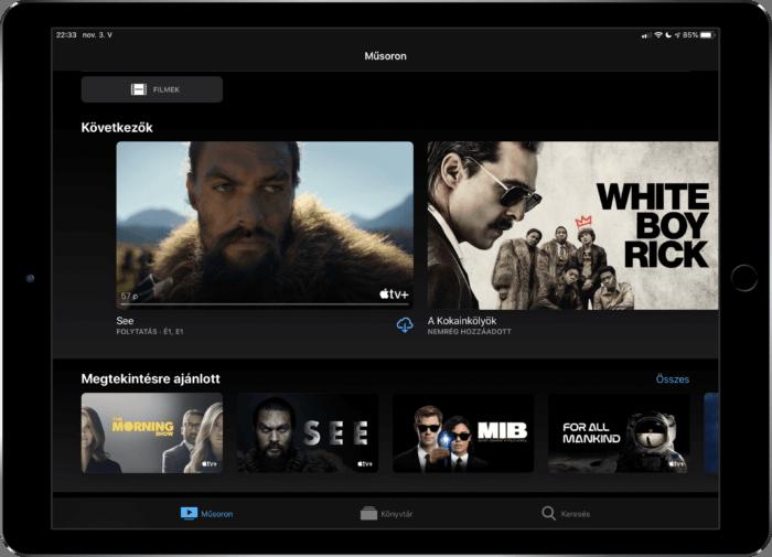 Apple TV+ szolgáltatás, sorozazok