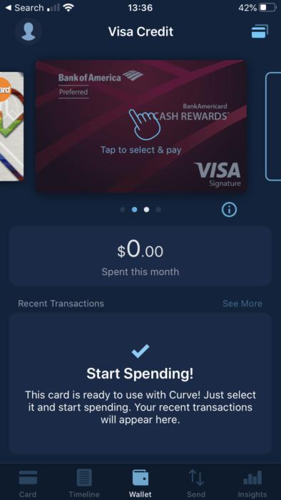 Kártya hozzáadása és kiválasztása