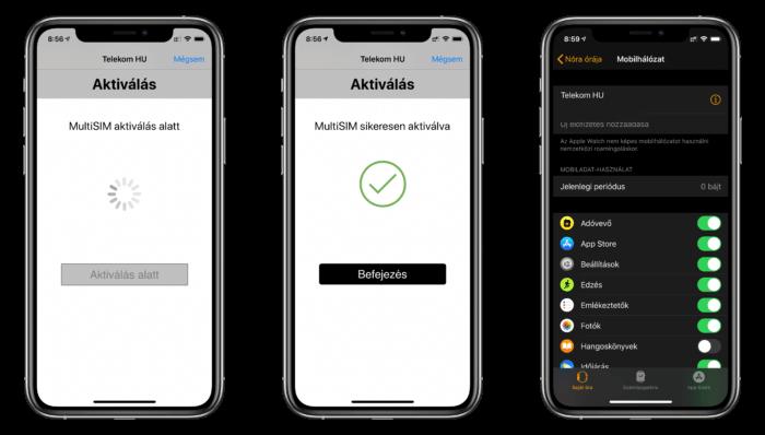Telekom MultiSIM beállítása – Apple Watch