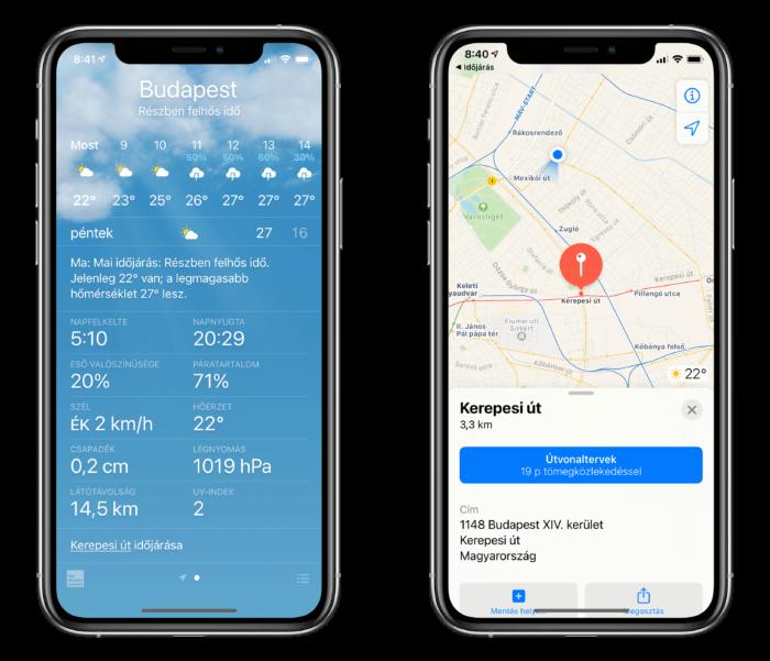iOS 14: időjárás