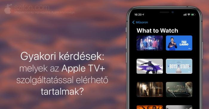 Borítókép: melyek az Apple TV+ szolgáltatással elérhető tartalmak?