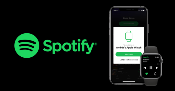 Spotify az Apple Watch-on