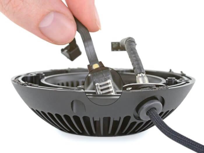 HomePod mini burkolatában megbújó hőérzékelő