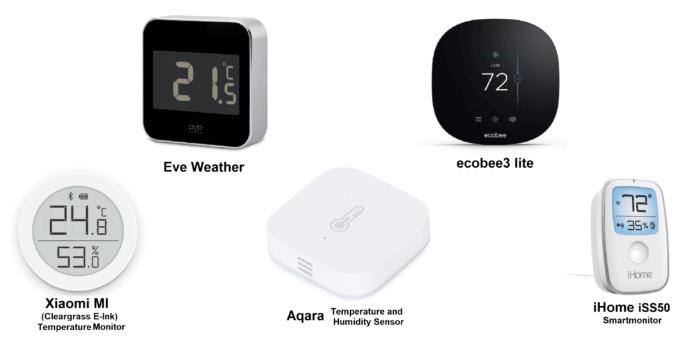 HomeKit hőmérséklet szenzor random lista