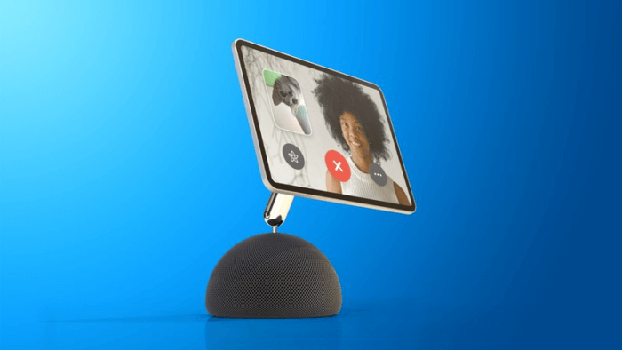 iPad robotkarral HomePod-on