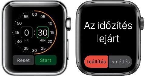 apple watch időzítő beállítás és lejárat