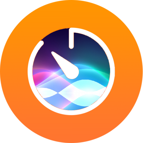 Apple Watch időzítő ikon Siri háttérrel